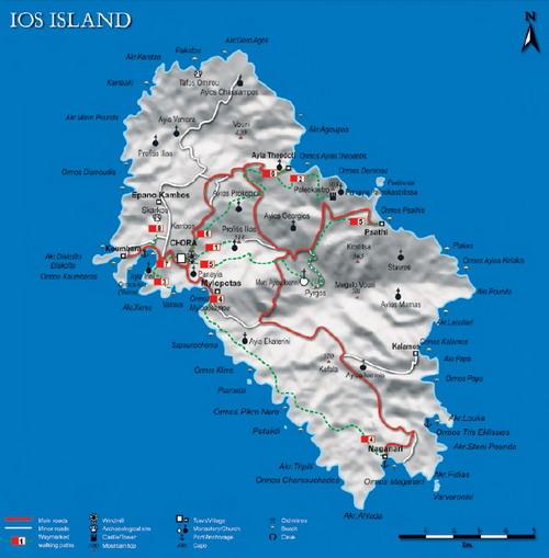 Anafi Island Map